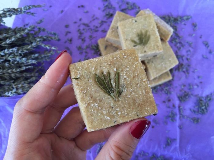 Lavender Rosemary Shortbread